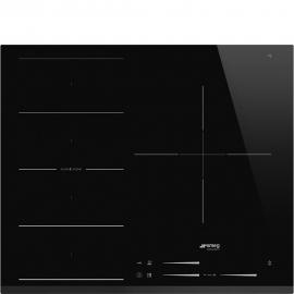 Encimera inducción SMEG Kitchen SI1F7635B, 3 zonas, Negro, acabado biselado