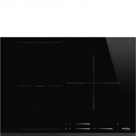 Encimera inducción SMEG Kitchen SI1M7733B, 3 zonas, Negro, acabado biselado