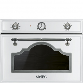 MicroondasSMEG Kitchen SF4750MBS, Integrable, Con Grill, Blanco