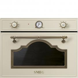 MicroondasSMEG Kitchen SF4750MPO, Integrable, Con Grill, Crema