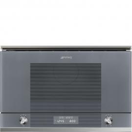 MicroondasSMEG Kitchen MP122S1, Integrable, Con Grill, Silver