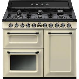 Cocina a gas SMEG TR103P , Más de 4 zonas, Crema,, Zona Gigante