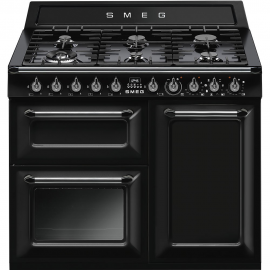 Cocina a gas SMEG TR103BL , Más de 4 zonas, Negro,, Zona Gigante
