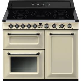 Cocina eléctrica SMEG TR103IP , Más de 4 zonas, Crema,, Zona Gigante
