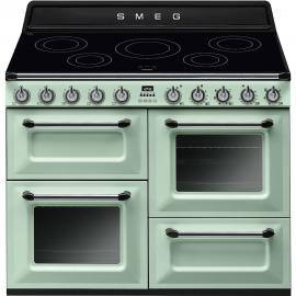 Cocina eléctrica SMEG TR4110IPG , Más de 4 zonas, Verde agua,, Zona Gigante