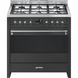 Cocina con horno eléctricoSMEG A1A-9 , Más de 4 zonas, Antracita, Zona Gigante