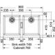 Fregadero sobre encimera FRANKE SIRUIS SID-620 CARBONE, Dos cubetas, Especial, acabado sintético