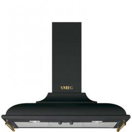 Campana decorativa SMEG KC19AOE, 90 cm, Negro,Clase A