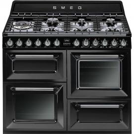 Cocina a gas SMEG TR4110BL1, Más de 4 zonas, Negro
