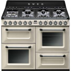 Cocina a gas SMEG TR4110P1, Más de 4 zonas, Crema/Beig