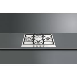 Encimera a gas SMEG kitchen SR764BS, 4 zonas, Blanco, Zona Gigante