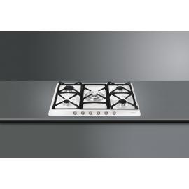 Encimera a gas SMEG kitchen SR775BS, 5 zonas, Blanco, Zona Gigante