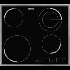 Encimera mixta ZANUSSI ZEN6641XBA, 4 zonas, Negro, acabado marco metalico