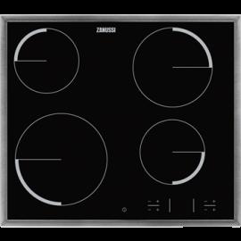 Encimera vitrocerámica ZANUSSI ZEV6340XBA, 4 zonas, Negro, acabado marco metalico