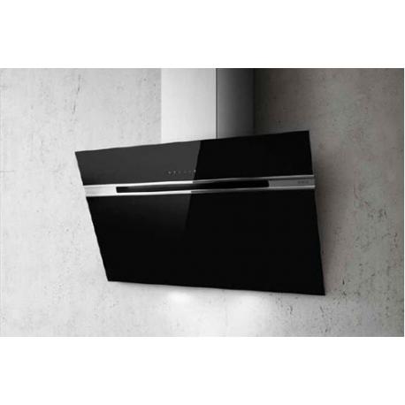 Campana decorativa ELICA STRIPE BL/A/90/90, 90 cm, Negro/inox, Clase menor B