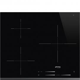 Encimera inducción SMEG KITCHEN SI7633B,  3 zonas, Negro, acabado biselado