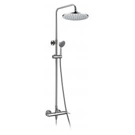 Grifo de ducha GME 3015 DUCHA VISTA ROUND MONOMANDO, Cromo, Con equipo de ducha