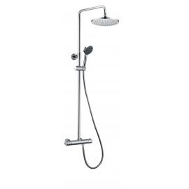 Grifo de ducha GME 3014 ROUND ELITE, Cromo, Con equipo de ducha