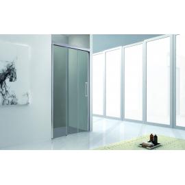Mampara de ducha TRIO 1236 fijo + 2 corrs apertura hacia fijo , transparente