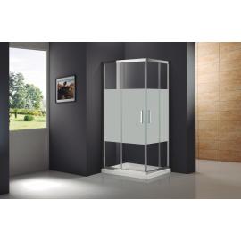 Mampara de ducha PRESTIGE FROST PLUS 0273+0295 apertura al vertice 2 fijos + 2 corrs , serigrafiado