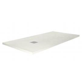 Plato de ducha RESITEC SWEET 1940, ancho de 80 cm, largo de 100 cm, en color crema, Resina tecnica
