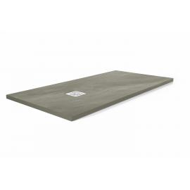 Plato de ducha STONE 2954, ancho de 70 cm, largo de 100 cm, en color plata, Resina carga mineral
