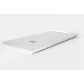 Plato de ducha ARDESIA 3910, ancho de 80 cm, largo de 110 cm, en color blanco, Resina carga mineral