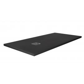 Plato de ducha ARDESIA 3926, ancho de 70 cm, largo de 180 cm, en color negro, Resina carga mineral