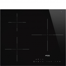 Encimera inducción SMEG SI5632D, 3 zonas, Negro