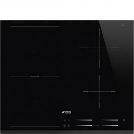 Encimera inducción SMEG SI1M7643B, 4 zonas, Negro, acabado biselado