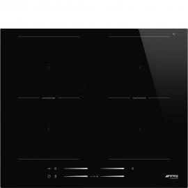 Encimera inducción SMEG SI2M7643D, 4 zonas, Negro