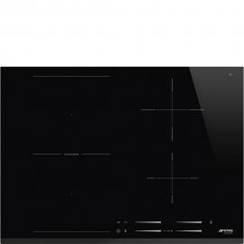 Encimera inducción SMEG SI1M7743B, 4 zonas, Negro, acabado biselado
