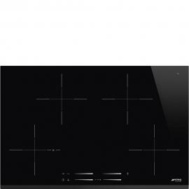 Encimera inducción SMEG SI7844B, 4 zonas, Negro, acabado biselado