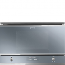Microondas SMEG MP422S, Integrable, Con Grill, Silver