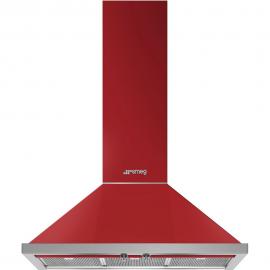 Campana decorativa SMEG KPF9RD, Más de 90 cm, Rojo, Clase A+