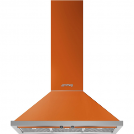 Campana decorativa SMEG KPF9OR, Más de 90 cm, Naranja, Clase A+
