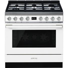 Cocina con horno eléctrico SMEG CPF9GMWH, Más de 4 zonas, Blanco Clase A+