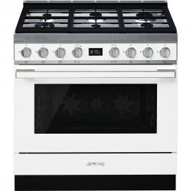 Cocina con horno eléctrico SMEG CPF9GPWH, Más de 4 zonas, Blanco Clase A+