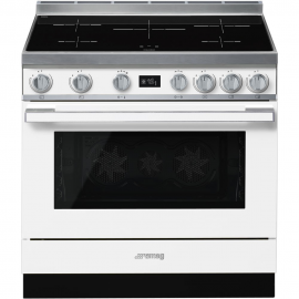Cocina con horno eléctrico SMEG CPF9IPWH, Más de 4 zonas, Blanco Clase A+