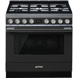 Cocina con horno eléctrico SMEG CPF9GPAN, Más de 4 zonas, Inoxidable Clase A+