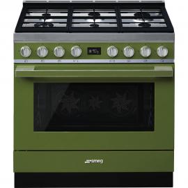 Cocina con horno eléctrico SMEG CPF9GPOG, Más de 4 zonas, Inoxidable Clase A+