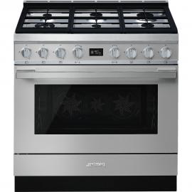 Cocina con horno eléctrico SMEG CPF9GPX, Más de 4 zonas, Inoxidable Clase A+