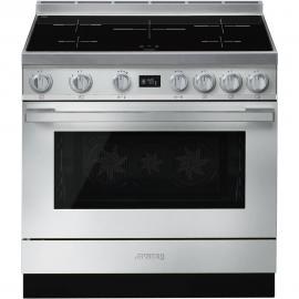 Cocina con horno eléctrico SMEG CPF9IPX, Más de 4 zonas, Inoxidable Clase A+