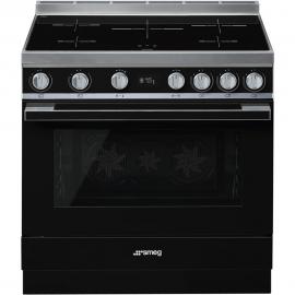 Cocina con horno eléctrico SMEG CPF9IPBL, Más de 4 zonas, Negro Clase A+