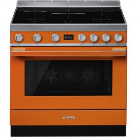 Cocina con horno eléctrico SMEG CPF9IPOR, Más de 4 zonas, Naranja Clase A+