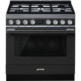 Cocina con horno eléctrico SMEG CPF9GMAN, Más de 4 zonas, Antracita Clase A+