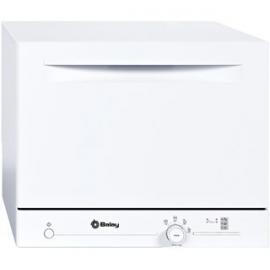 Lavavajillas compacto BALAY 3VK301BC, Menos de 8 cubiertos, Blanco, Clase A+