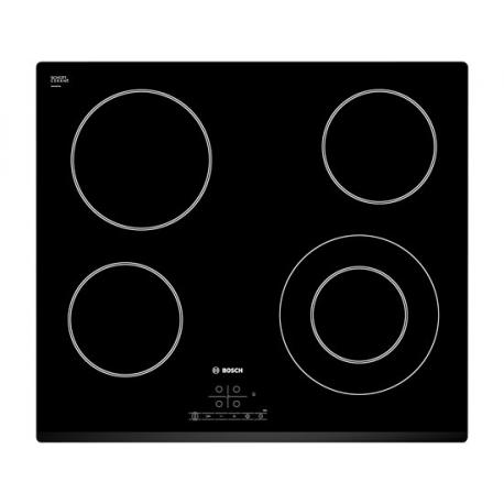 Encimera vitrocerámica BOSCH PKF631B17E, 4 zonas, Negro, acabado biselado