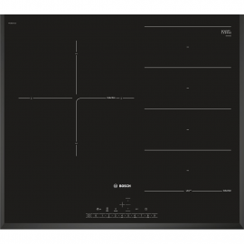 Encimera inducción BOSCH PXJ651FC1E, Flexible, Negro, acabado biselado, Zona Gigante