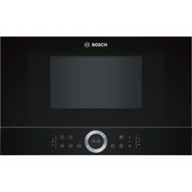 Microondas integrable BOSCH BFL634GB1, Sin Grill, Negro